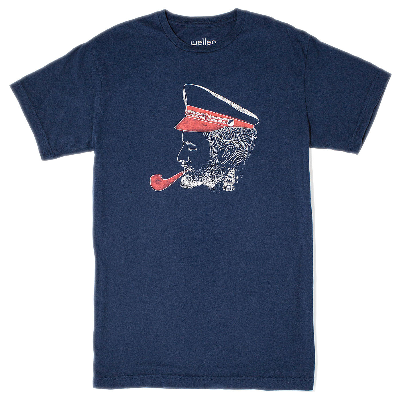 Wellen Surf Captain T-Shirt (Blue)
