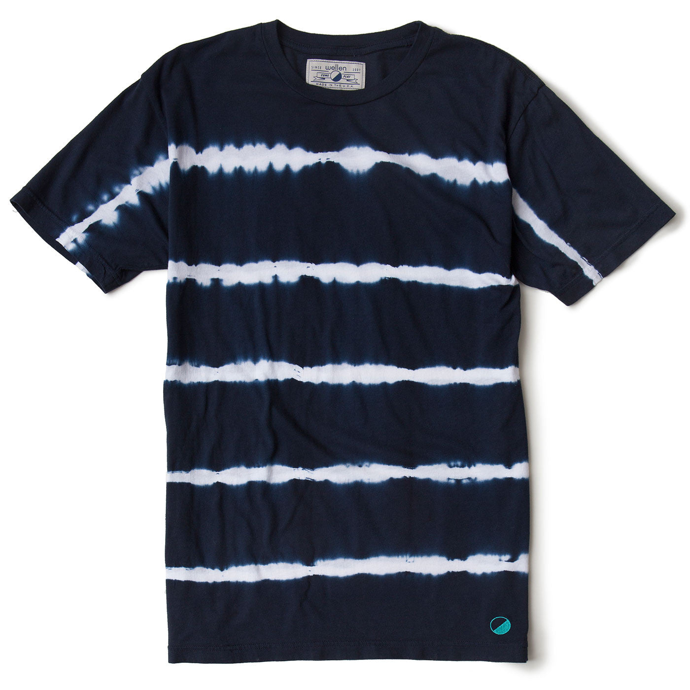 Wellen Surf Indigo Striped T-Shirt