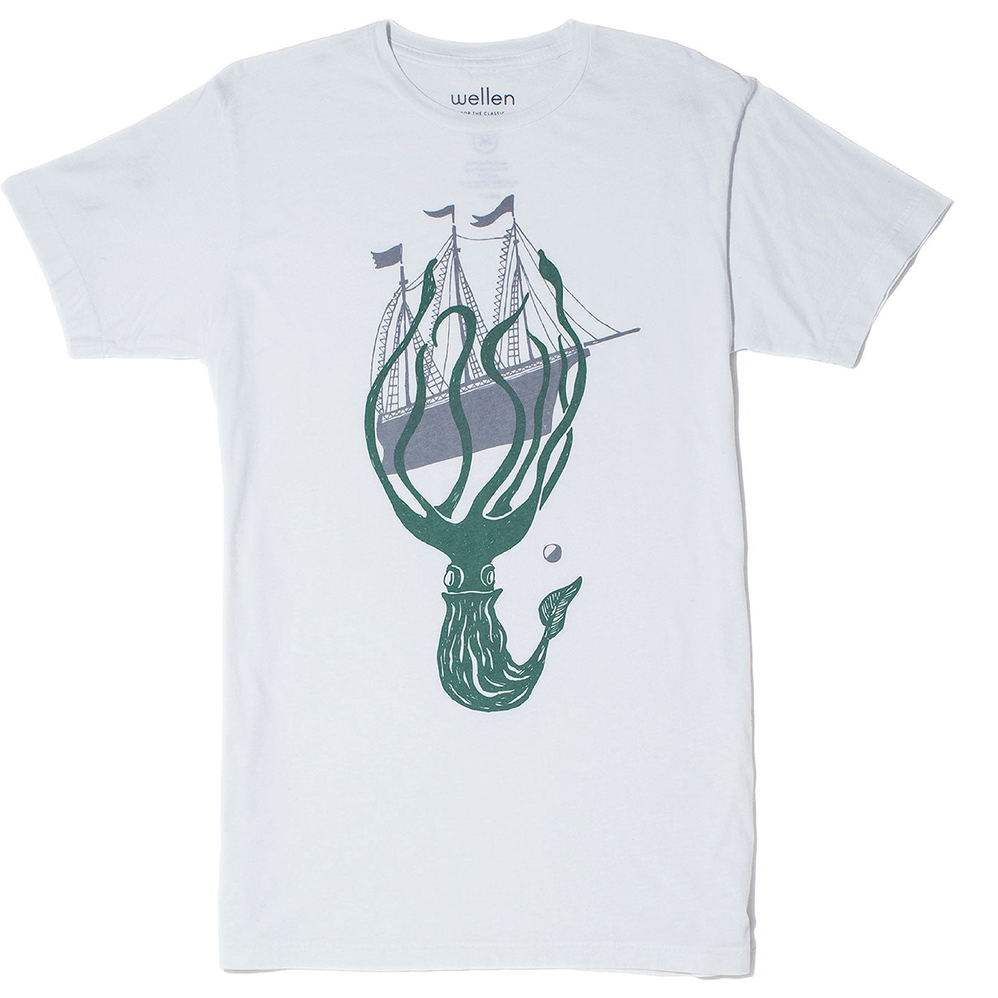 Wellen Surf Kraken T-Shirt (White)
