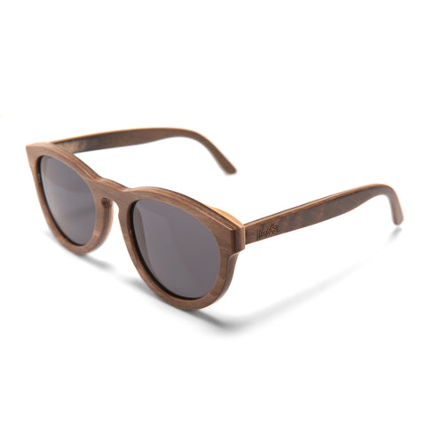 Woodroze Ostrich Canadian Maple Polarized Sunglasses (Brown/Natural)