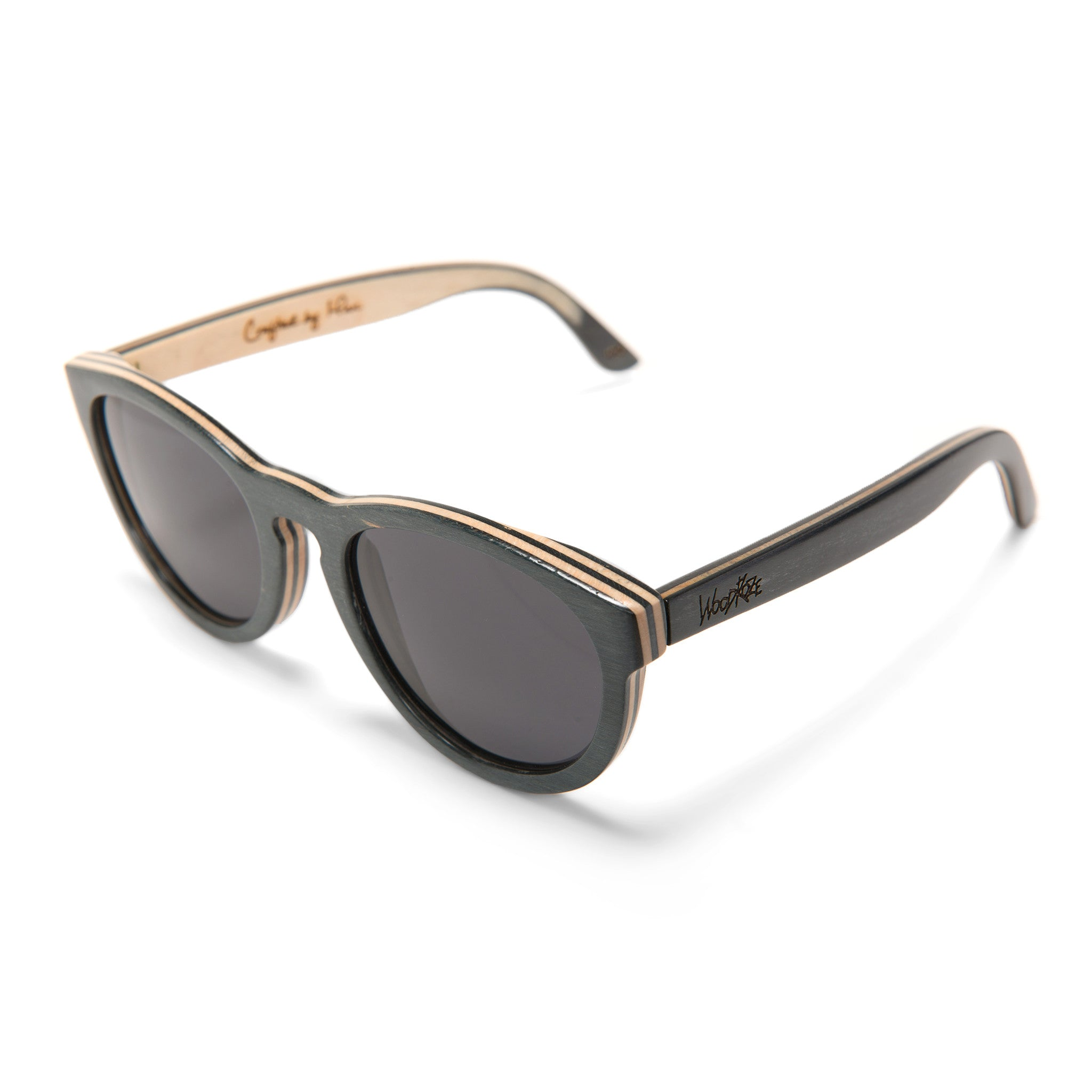 Woodroze Ostrich Canadian Maple Polarized Sunglasses (Slate/Natural)