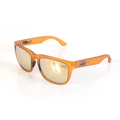 Woodroze Roost'r Softwood Polarized Sunglasses (Nebula Orange/Gold Lens)