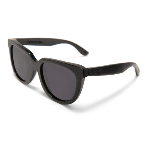 Woodroze Thrifter Bamboo Polarized Sunglasses (Black)