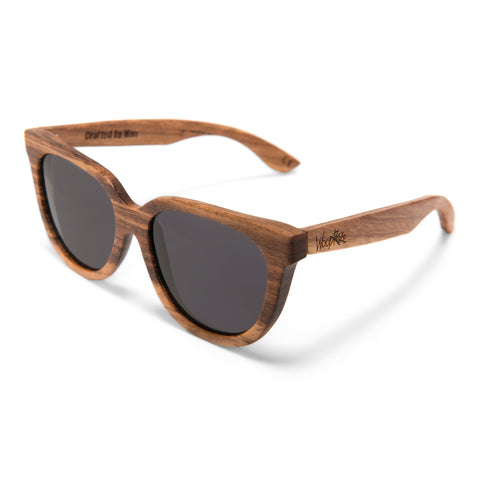 Woodroze Thrifter Zebrawood Polarized Sunglasses