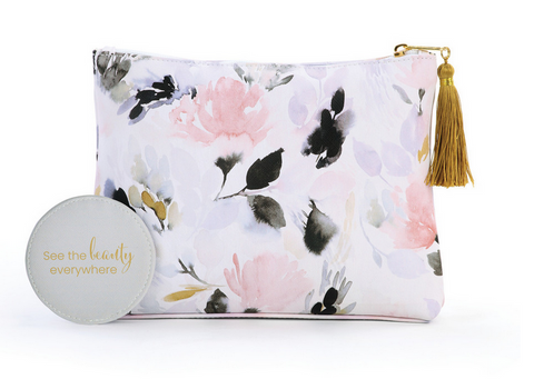 Floral Pattern Zip Pouch