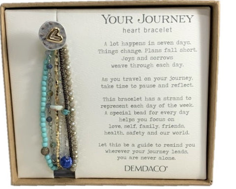 Turquoise Beaded YOUR JOURNEY Bracelet