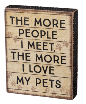 Love My Pets - Block Sign
