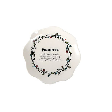 Floral Border Teacher Plate