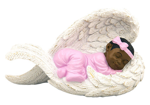 Positive Images -Cherub - Baby girl in angel wings