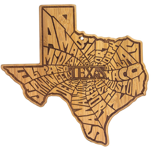A Spin around TEXAS- Totally Bamboo Serving & Cutting Board