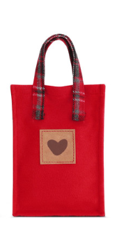 Merry & Bright Plaid Gift Bag- Small