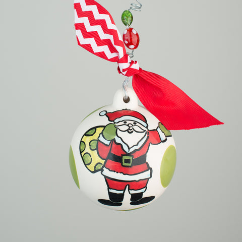 Glory Haus Santa Holding Bag Ceramic Ornament