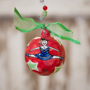 Glory Haus Cheerleader Ceramic Ornament