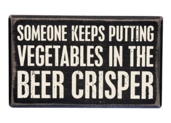 Beer Crisper - Box Sign