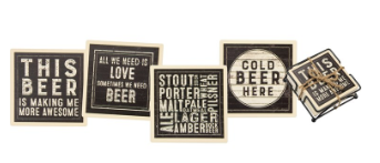Rustic Beer - Coaster Set