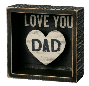 Love You Dad - Reverse Block Sign