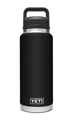 YETI® Black Rambler 36 oz. Bottle  w/Chug Cap