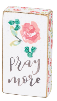 Pray More - Stitched Block