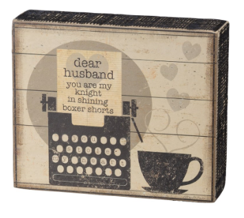 Dear Husband - Box Sign
