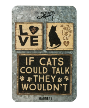 All You Need is Love and a Cat - Memo Holder Set