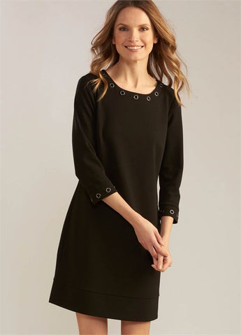 Grommet Shift Dress