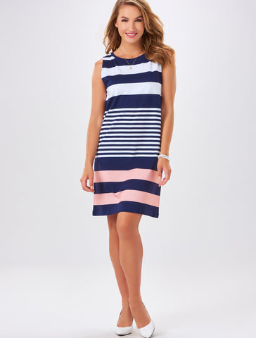 Charlie Paige Striped Sleeveless Dress