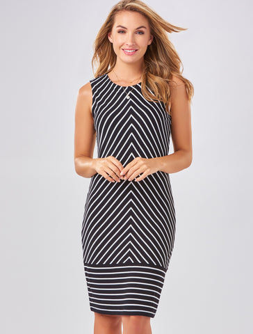 Charlie Paige Flattering Striped Dress