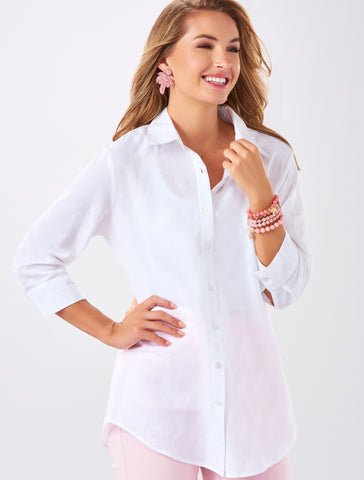 Charlie Paige Light weight cotton ladies button up shirt