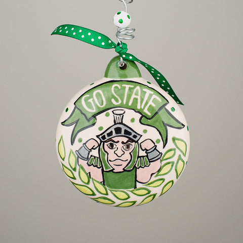 Glory Haus Michigan State Puff Ornament