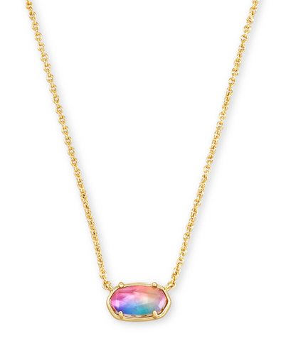 Grayson Gold Pendant Necklace in Watercolor Illusion