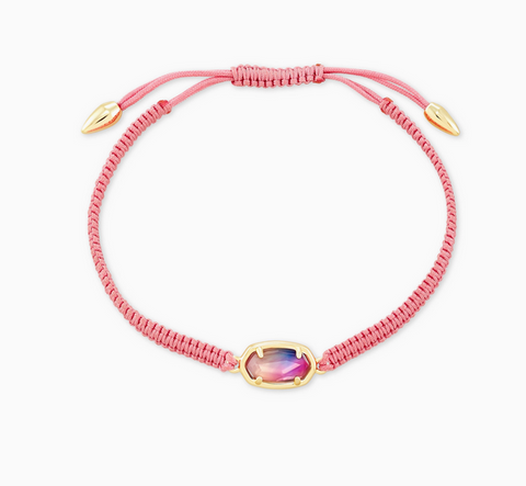 Grayson Pink Cord Friendship Bracelet in Watercolor Illusion