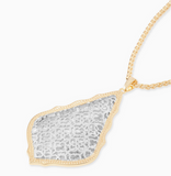 Aiden Gold Pendant Necklace in Silver Filigree
