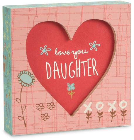 Love  you daughter plaque