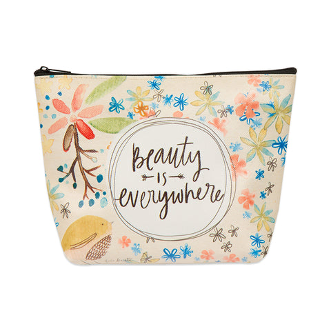 Zipper top cosmetic bag - Beauty is Everywhere