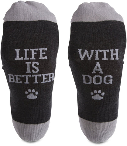 Life is better with a dog!- Socks