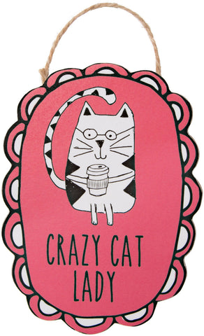 "Crazy Cat Lady - 4"" Ornament with Magnet"