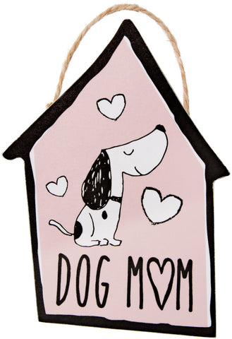 "Dog Mom - 4"" Ornament with Magnet"