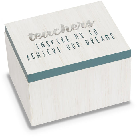 Teachers - 2.25 x 1.2 x 1.5 MDF Trinket Box