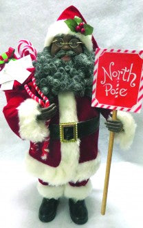 "15"" African American North Pole Santa"