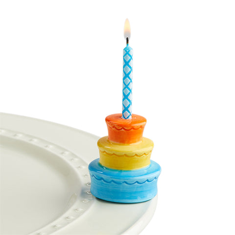 Nora Fleming Best Birthday Ever! Candle Holder Mini
