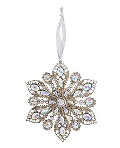 Opal Filigree Holiday Ornament