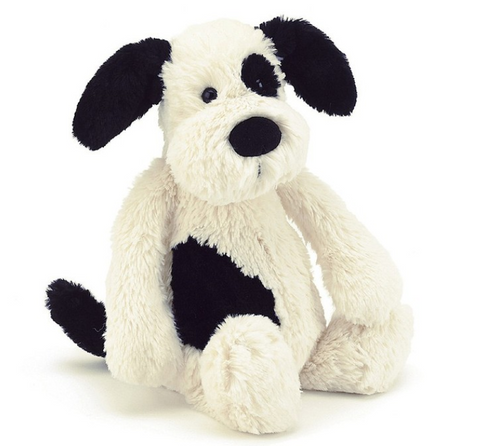 Bashful Puppy Black/Cream Medium