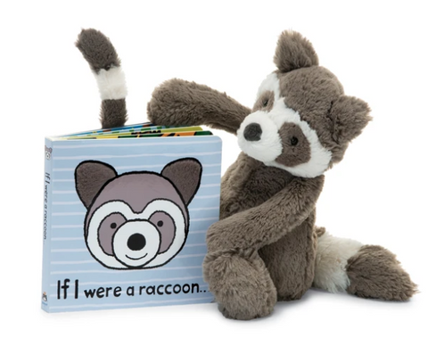 If I Were a Raccoon Book  + Bashful Raccoon BUNDLE **Retired**