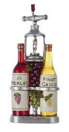 Wine Merlot with Pinot Grigio Ornament