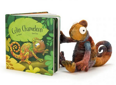 Colin Chameleon Book + Plush BUNDLE