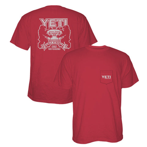 YETI Coat of Arms Red T-Shirt