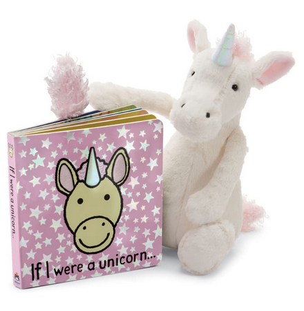 If I Were a Unicorn Book  + Bashful Unicorn BUNDLE
