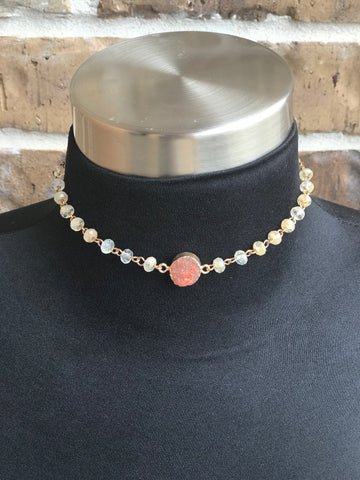 Jane Marie Choker with  Druzy Stone