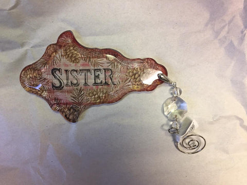 Sister - Vintage Relationship Ornament