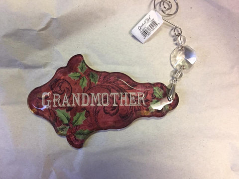 Grandmother - Vintage Relationship Ornament